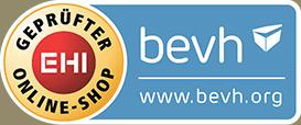 Sicher einkaufen mit Fairness & Transparenz: valentins.de ist durch BEVH/EHI-Siegel zertifiziert.